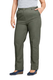 Women's Plus Size Petite 7 Day Elastic Back Pants