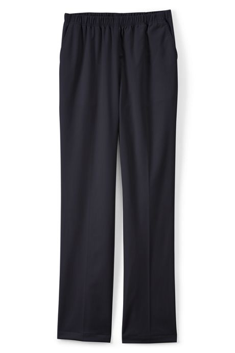 Women's Petite 7 Day Elastic Waist Pull On Pants