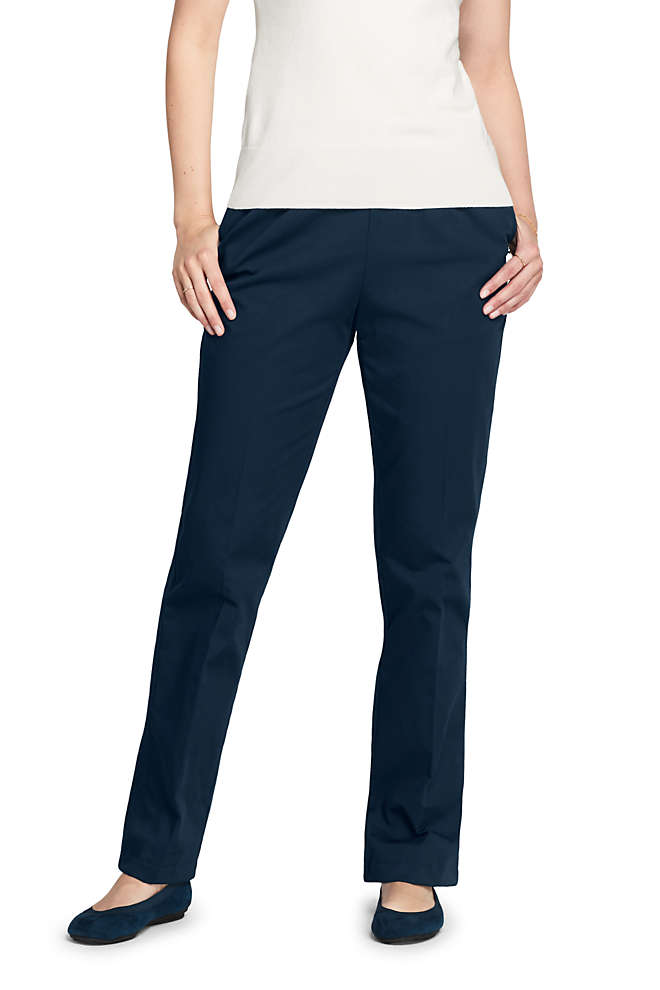 Women's Tall 7 Day Elastic Waist Pull On Pants, Front