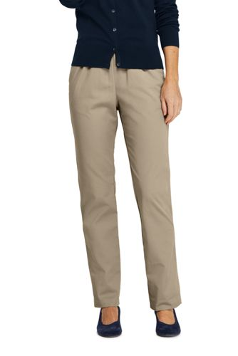 e06717a99ec36 Women's 7 Day Elastic Waist Pull On Pants from Lands' End