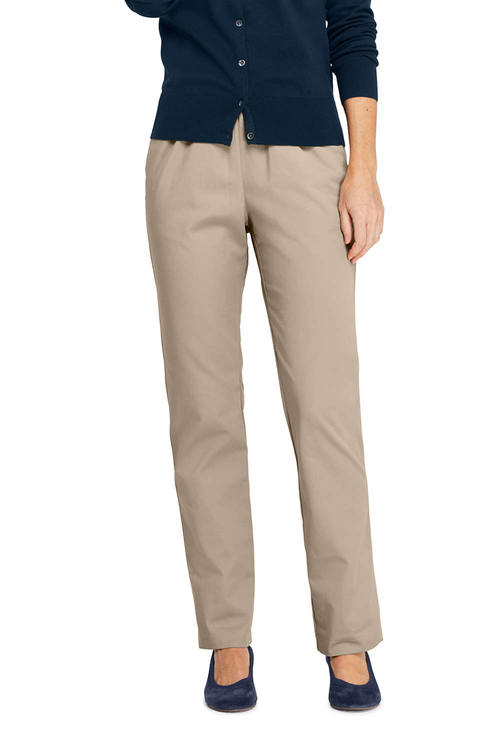 5e996850ff9 Women s 7 Day Elastic Waist Pants from Lands  End