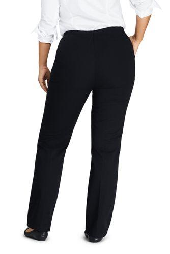 Women's Plus Size Petite 7 Day Elastic Waist Pull On Pants