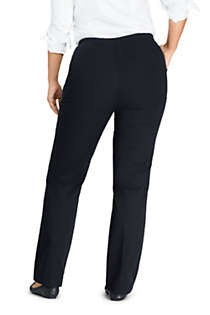 Women's Plus Size Petite 7 Day Elastic Waist Pull On Pants, Back