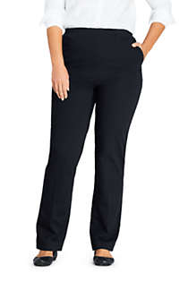 Women's Plus Size Petite 7 Day Elastic Waist Pull On Pants, Front