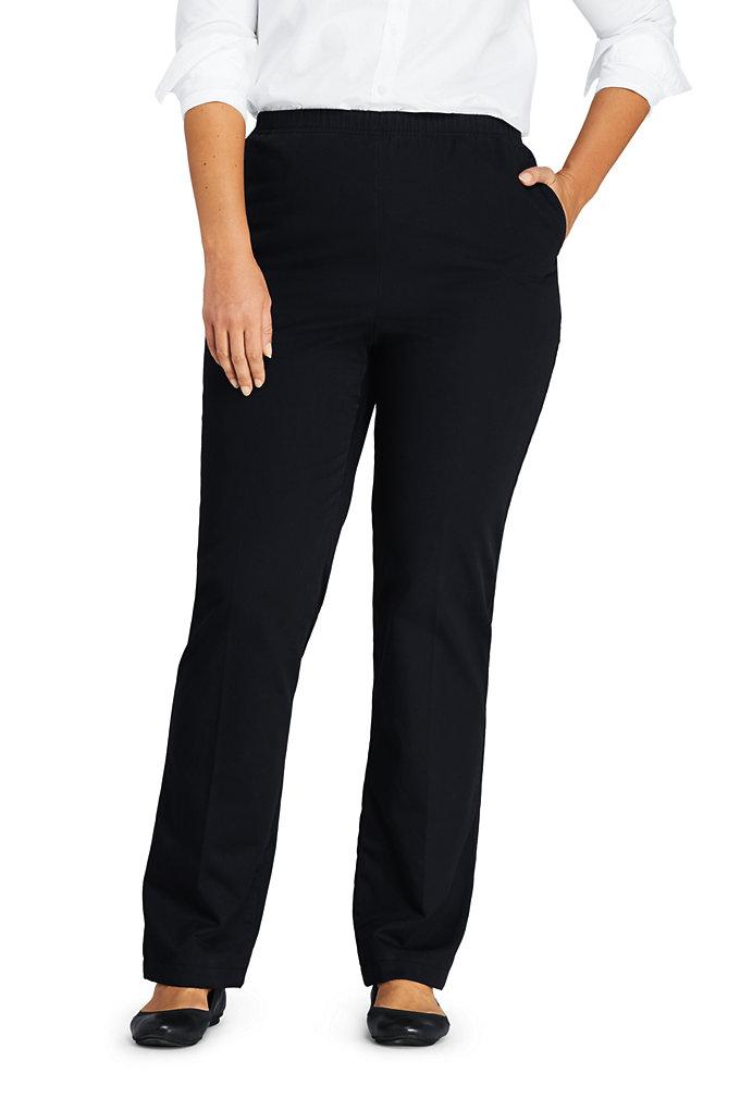 Women's Plus Size 7 Day Elastic Waist Pull On Pants
