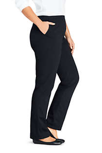 Women's Plus Size Petite 7 Day Elastic Waist Pull On Pants, alternative image