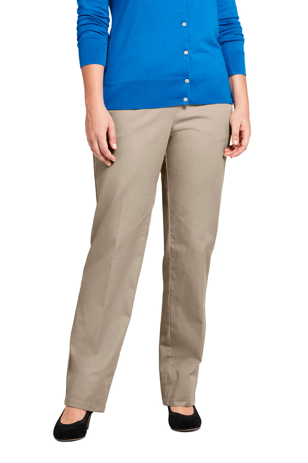 Women\'s Plus Size 7 Day Elastic Waist Pull On Pants from Lands\' End