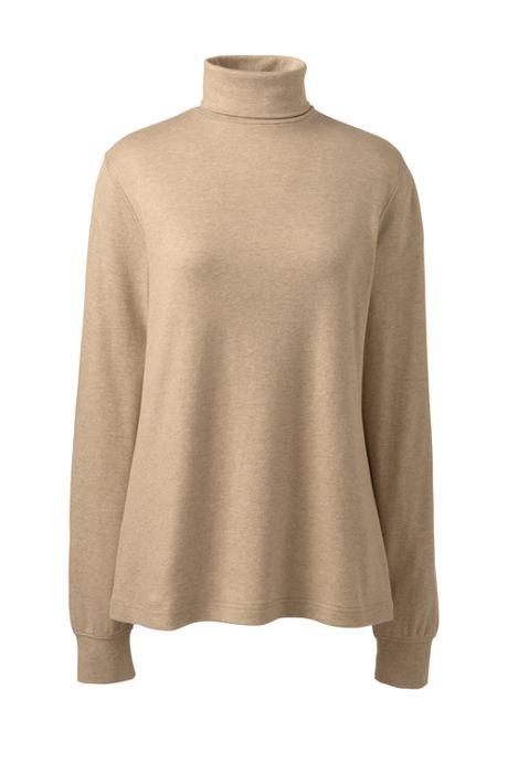 Women's Plus Size Relaxed Seamless Turtleneck