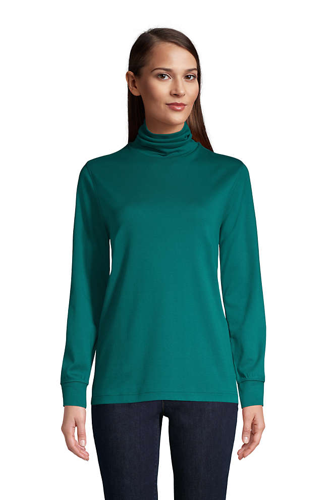 Women's Relaxed Seamless Turtleneck, Front