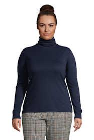 Women's Plus Size Relaxed Seamless Turtleneck