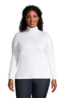 Women's Plus Size Relaxed Seamless Turtleneck, Front