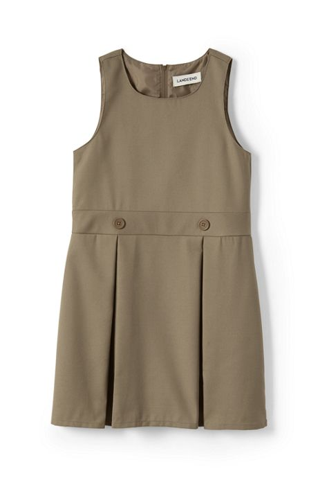 Little Girls Uniform Solid Jumper