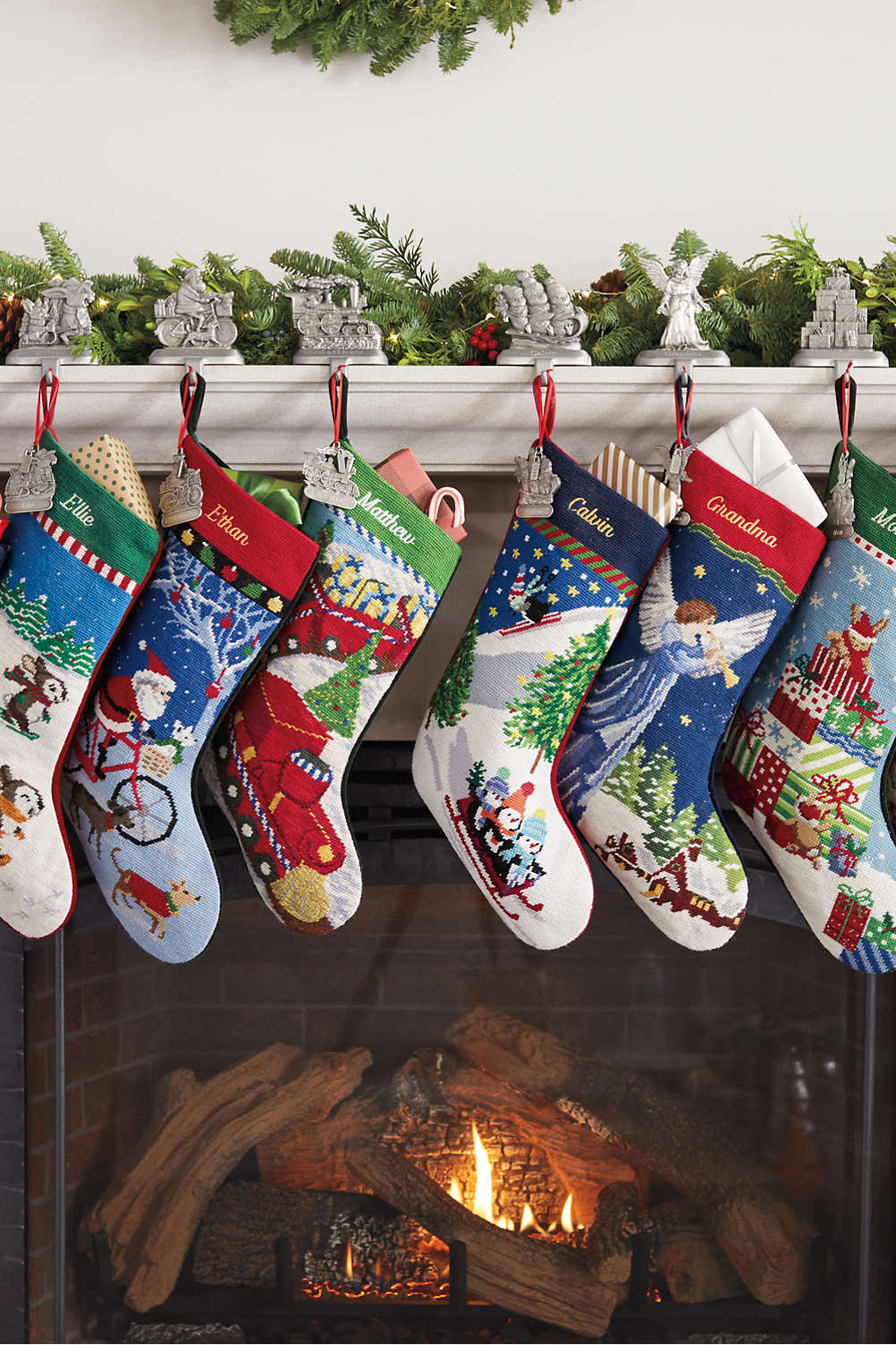c773de36e1f Needlepoint Personalized Christmas Stocking from Lands  End