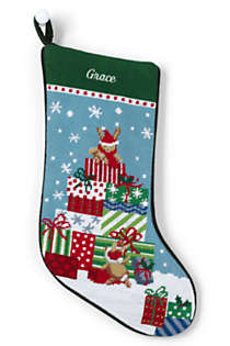 Vintage Needlepoint Christmas Stockings.Needlepoint Personalized Christmas Stocking
