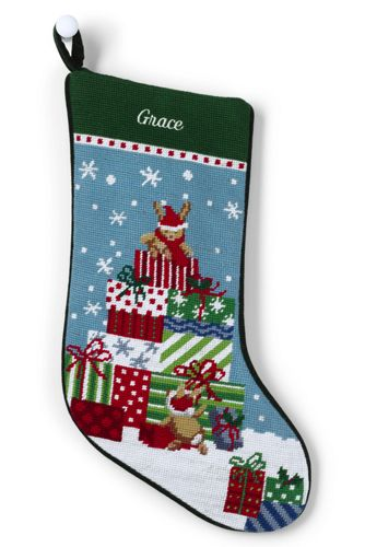 Needlepoint Personalized Christmas Stocking From Lands End