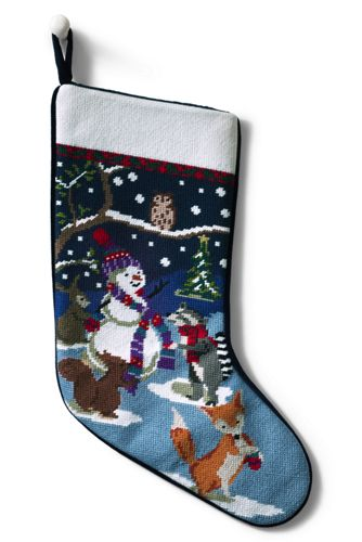 Lands End Christmas Stockings.Needlepoint Christmas Stocking Personalised With A Monogram