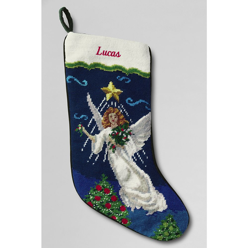 Lands' End Needlepoint Christmas Stocking at Sears.com