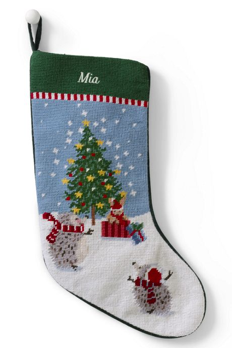 Needlepoint Personalized Christmas Stocking ...