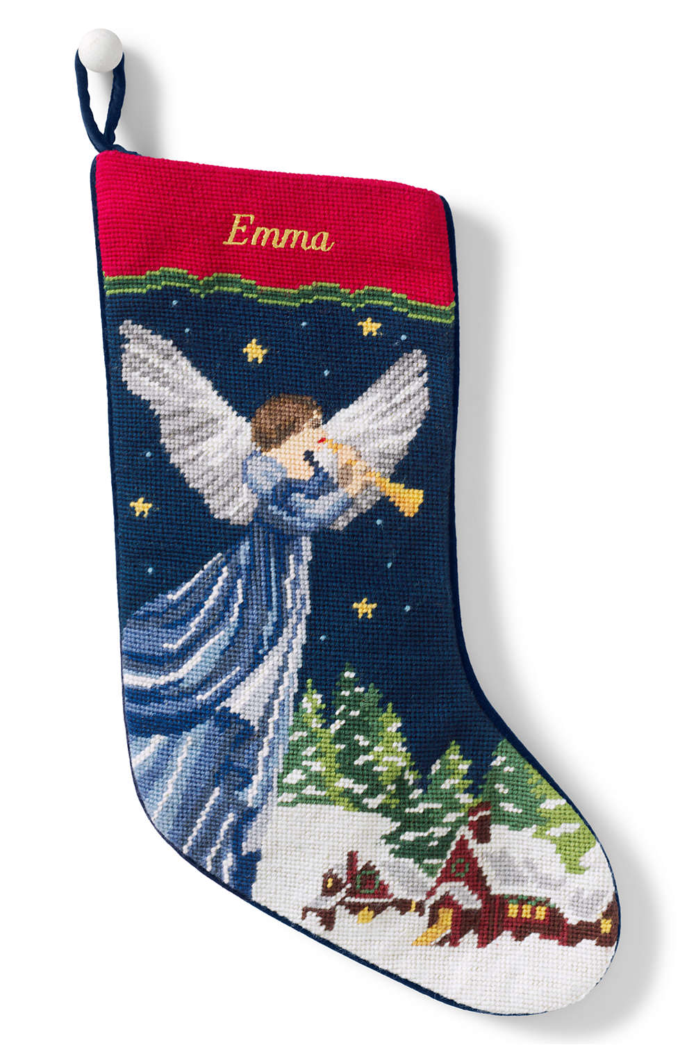 f3a30d9e0 Needlepoint Personalized Christmas Stocking from Lands  End