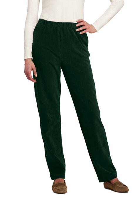 Women's Sport Knit Corduroy Elastic Waist Pants High Rise