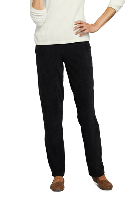 Women's Sport Knit Corduroy Elastic Waist Pants High Rise