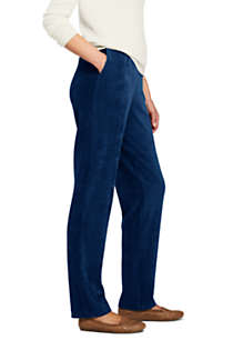 Women's Petite Sport Knit High Rise Corduroy Elastic Waist Pants , Unknown