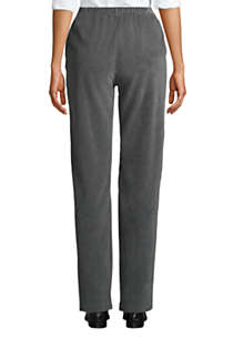 Women's Petite Sport Knit High Rise Corduroy Elastic Waist Pants , Back