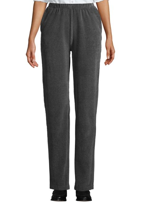 Women's Tall Sport Knit High Rise Corduroy Elastic Waist Pants