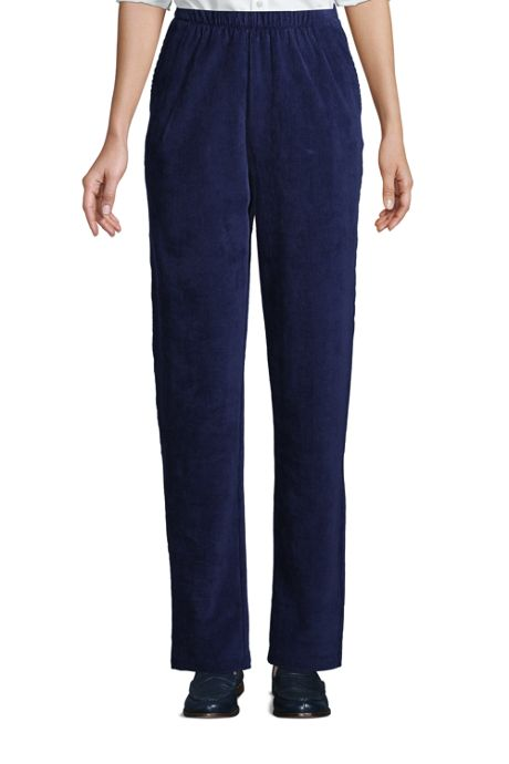Women's Sport Knit High Rise Corduroy Elastic Waist Pants