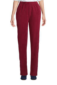Women's Petite Sport Knit High Rise Corduroy Elastic Waist Pants