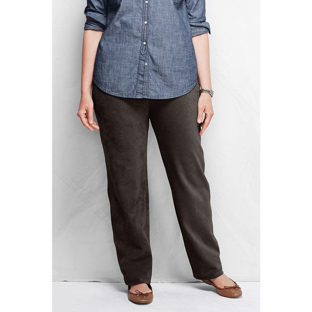 Lands' End Women's Plus Size Fit 3 Sport Knit Corduroy Pants at Sears.com