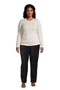 Women's Plus Size Petite Sport Knit High Rise Corduroy Elastic Waist Pants , alternative image