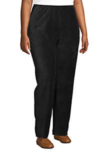 Women's Plus Size Sport Knit High Rise Corduroy Elastic Waist Pants , alternative image