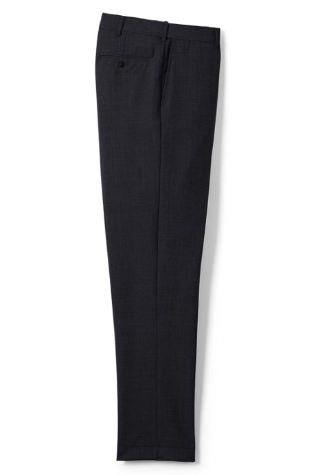 Men's Long Comfort Waist Year'rounder Wool Dress Pants