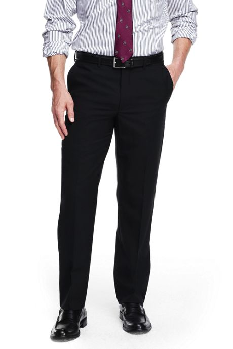 Men's Big & Tall Comfort Waist Wool Year'rounder Dress Trousers