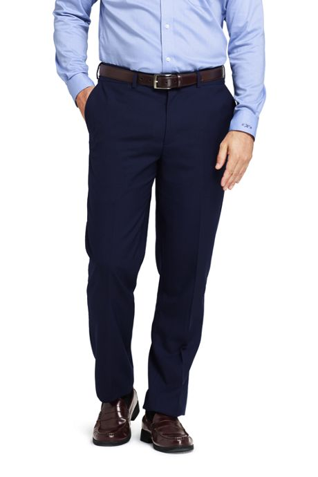 Men's Comfort Waist Year'rounder Wool Dress Pants