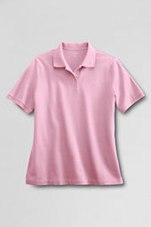 Women's Short Sleeve Classic Banded Mesh Polo Shirt