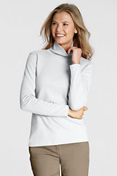 Women's Tall Cotton Interlock Turtleneck