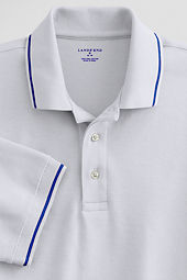 Men's Short Sleeve Tipped Collar Performance Pima Polo Shirt