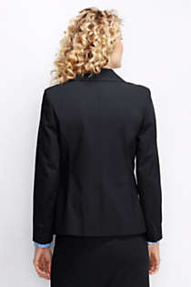 Women's Plus Size Washable Wool One Button Blazer, Back