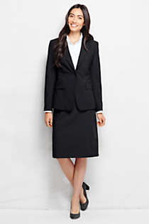 Women's Plus Size Washable Wool One Button Blazer, Front