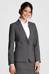 Women's Washable Wool 1-button Blazer