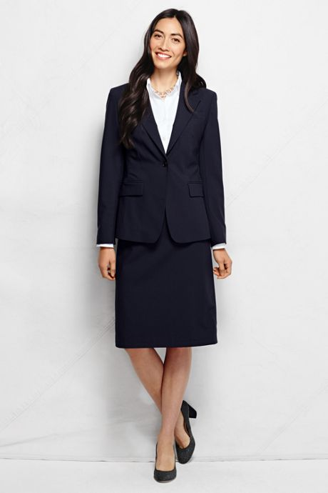 Women's Tall Washable Wool One Button Blazer