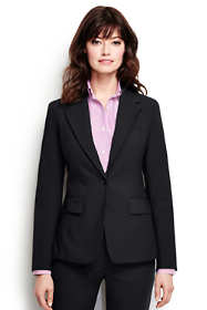 Women's Washable Wool One Button Blazer