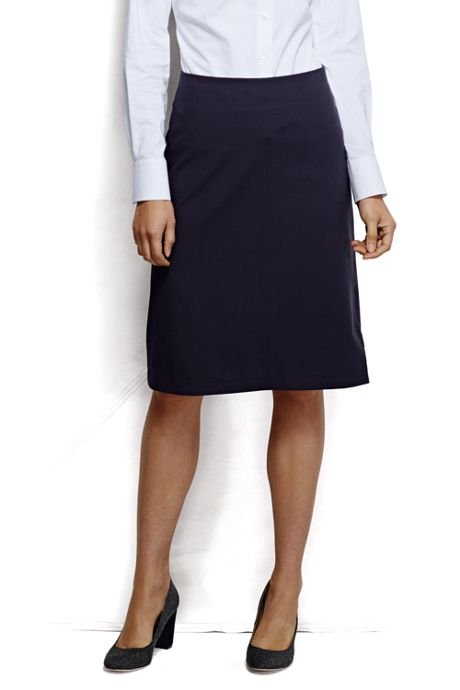 Women's Petite Washable Wool Skirt