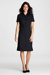 Women's Washable Wool Button-front Shirtdress