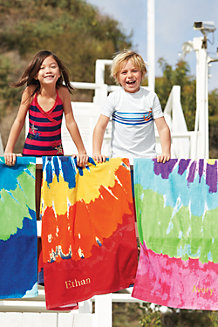 Kids' Swirl Tie Dye Beach Towel