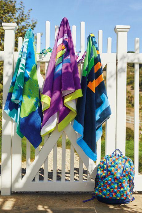 School Uniform Kids Swirl Tie Dye Beach Towel
