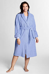 Women's Plus Size Calf Length Turkish Terry Robe