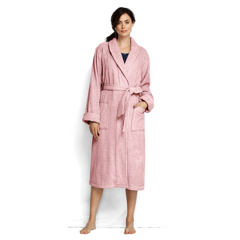 Lands' End Women's Petite Turkish Terry Calf Length Robe at Sears.com